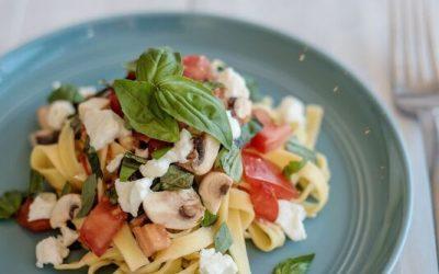 Tomato & Mushroom Fettuccine