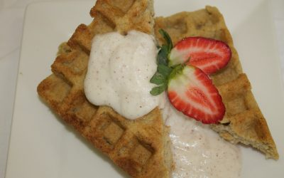 Breakfast Waffles with Brazil Pear Cream