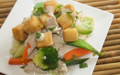 Tofu with Gado Gado Sauce