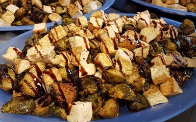 Roast Brussel Sprouts & Tofu