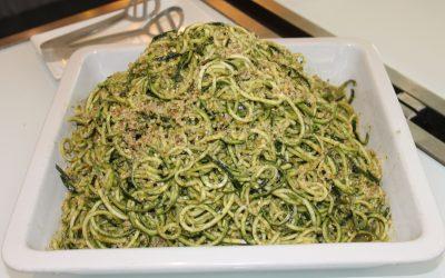 Basil Walnut Pesto with Zucchini Noodles