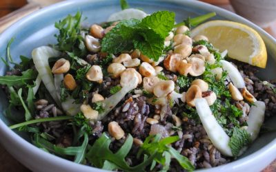 Wild Rice Salad with Roasted Hazelnuts